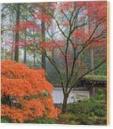 Gateway To Portland Japanese Garden Wood Print