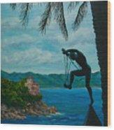 Gateway To Portofino Wood Print by Charlotte Blanchard