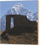 Mt Veronica And Inti Punku Sun Gate Wood Print