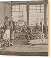 Gathering At Ottoman Mansion Wood Print