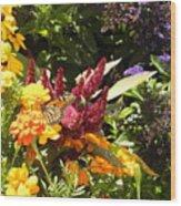 Gathering Nectar  Wood Print