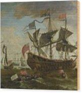 Gathering Of English Ships Wood Print