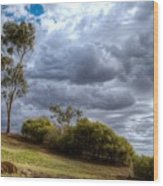 Gathering Storm Clouds Wood Print