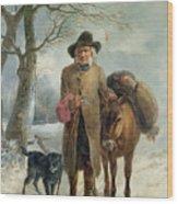 Gathering Winter Fuel  Wood Print by John Barker