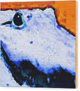 Gator Art - Swampy Wood Print