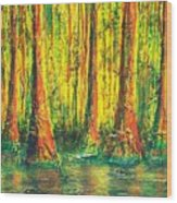 Gator Swamp Wood Print