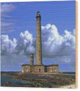 Gatteville Lighthouse Wood Print