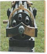 Gattling Gun Wood Print