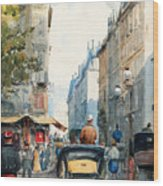 Gatubild Paris Wood Print
