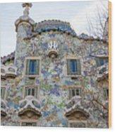 Gaudi Architecture  Wood Print