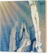 Gaudi Crucifixion Wood Print