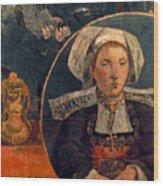 Gaugin: Belle Angele, 1889 Wood Print