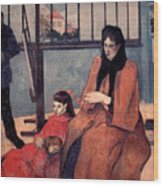 Gaugin: Family, 1889 Wood Print
