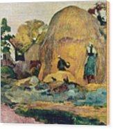 Gauguin: Haystacks, 1889 Wood Print