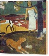 Gauguin: Pastoral, 19th C Wood Print