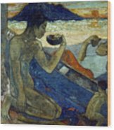 Gauguin: Pirogue, 19th C Wood Print