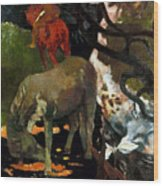 Gauguin: White Horse, 1898 Wood Print