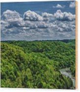 Gauley River Canyon And Clouds Wood Print