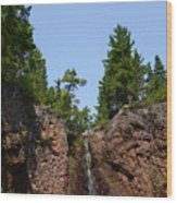 Gauthier Falls In Late August Wood Print