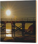 Gaviota Sunset Wood Print