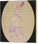 Gay 90s Lavender Woman Wood Print