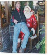 Gay Santa Wood Print