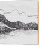 Gayana Island Resort Wood Print