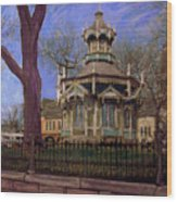 Gazebo At Wisconsin Club Wood Print