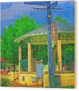 Gazebo In Chippewa Wood Print