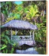 Gazebo In Paradise Wood Print