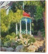 Gazebo In The Nikitsky Botanical Garden Wood Print