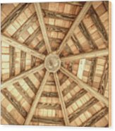 Gazebo Roof Wood Print
