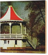 Gazeebo Wood Print