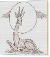 Gazelle Wood Print