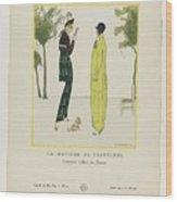 Gazette Du Bon Ton 1914   No  4  Pl  36  La Matinee De Printemps  Costumes Tailleur De Doucet  J  M Wood Print