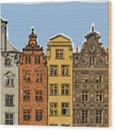 Gdansk Buildings Wood Print