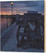 Gears At Daybreak  Wood Print