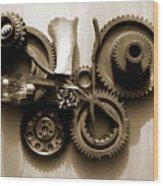 Gears IIi Wood Print by Jan Brieger-Scranton