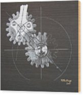Gears No1 Wood Print
