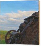 Gears Of History Wood Print
