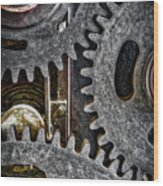 Gears Of Life Wood Print