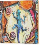 Gecko Wood Print by Patricia Allingham Carlson