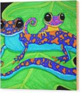 Geckos Wood Print