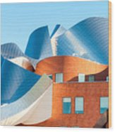 Gehry Architecture Wood Print