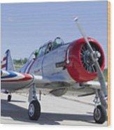 Geico Skytypers Snj-2 World War II-era Planes Wood Print