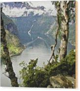 Geiranger Fjord Wood Print