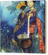 Geisha - Combining Innocence And Sophistication Wood Print