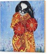 Geisha Chin Wood Print