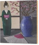 Geisha Doll Wood Print