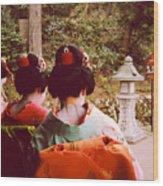 Geisha Necks Wood Print